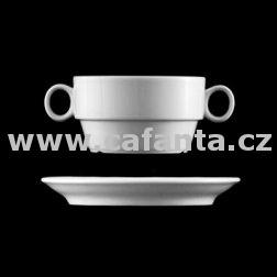 Princip - šálek na polévku s podšálkem