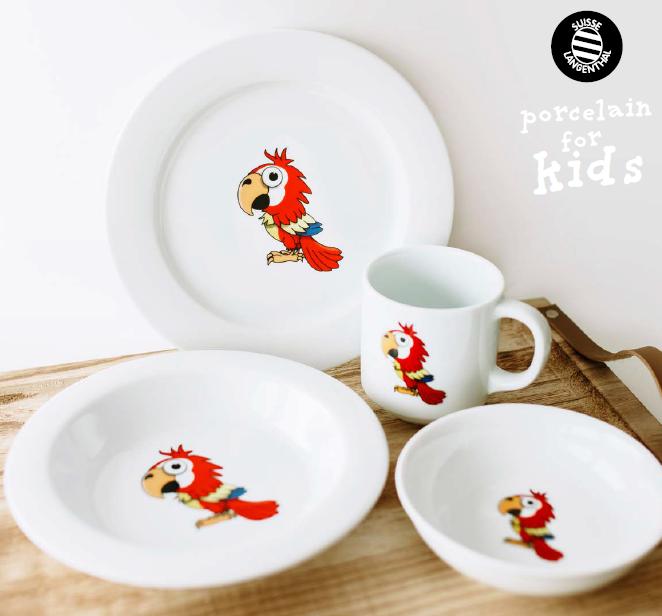 Dětský porcelán Papoušek